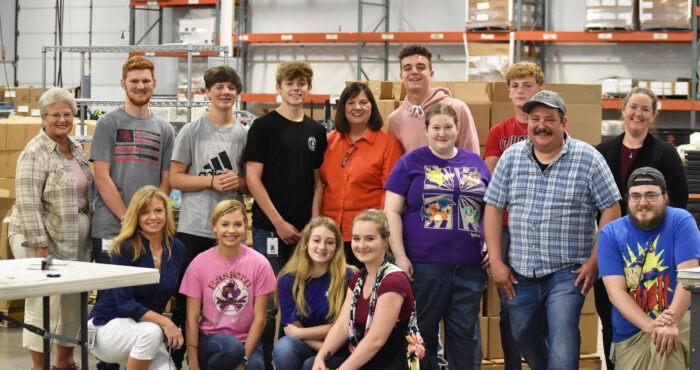 Summer help at L & D Mail Masters has included close family members during a busy summer.