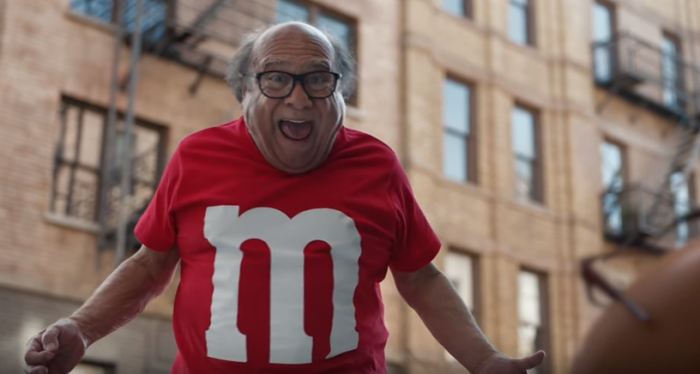 Danny DeVito Image from M&M Commercial