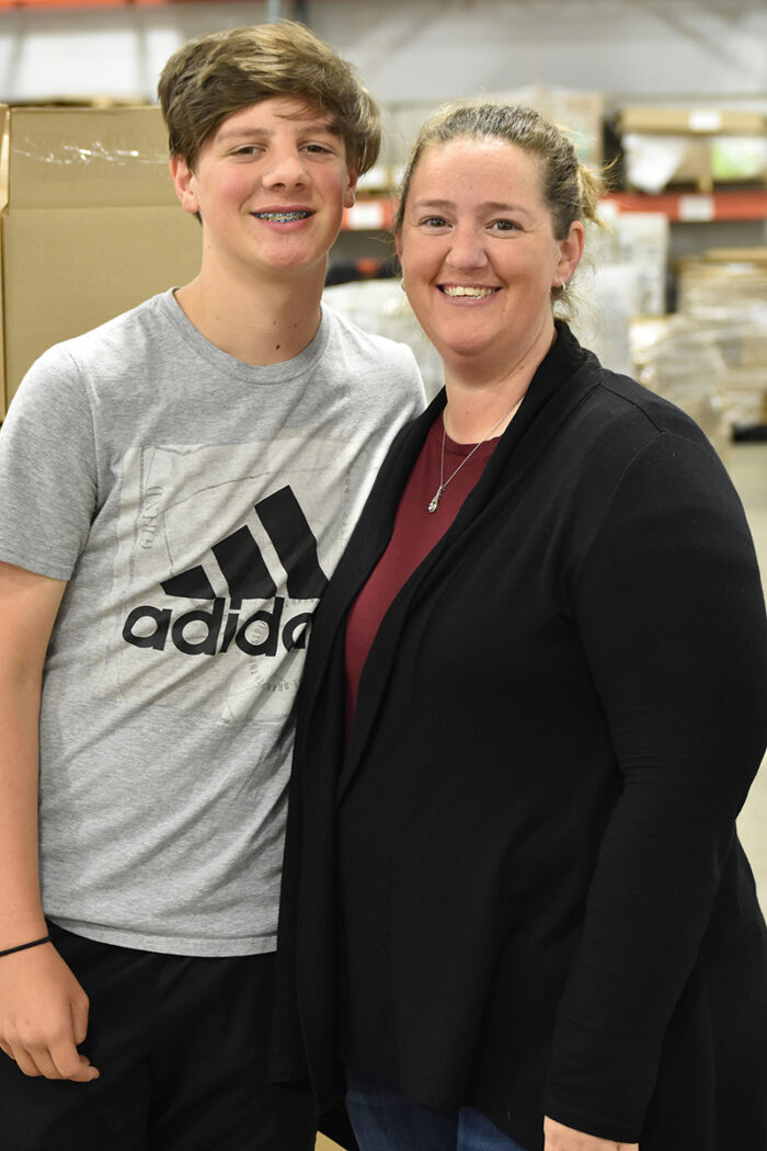 Tracy Bishop Kaden Bishop family co-workers L & D Mail Masters