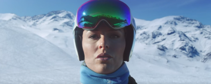 Lindsay Vonn's Girl of Fire Winter Olympic Commercial Image