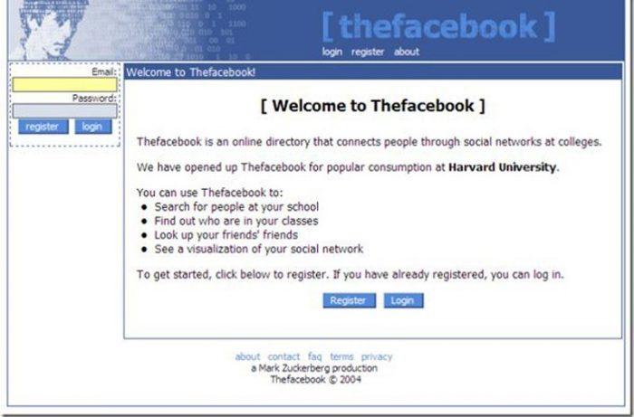 Facebook then